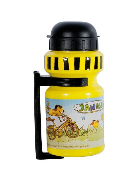 Bike Fashion Janosch Tigerente Bidon Kinderen 300 ml met houder geel